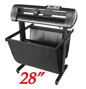 28 Sign Making Vinyl Cutter Plotter 740mm With Optical Eyeflexi 11 And Stand