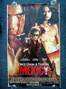 Once Upon A Time In Mexico Original 2000s Adv One Sheet Movie Poster Salma Hayek