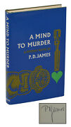 A Mind To Murder Signed By P. D. James First American Edition 1st Print 1967