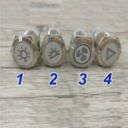 Waterproof 19mm Self Recover Car Modification Symbol Metal Push Button Switch