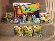 New 2019 Imaginext Toy Story 4 Pizza Playset, Vehicles, Figures Lot Complete Set