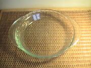 Vintage Pyrex 229 9.5″ Clear Glass Fluted Scalloped Edge Deep Dish Pie Plates