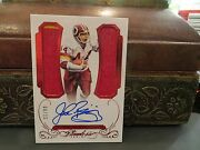 Panini Flawless Ruby On Card Autograph Jersey Redskins John Riggins 08/15 2015