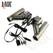 2.5 63mm Dual Electric Exhaust Cutout Dump Bypass Valve W/ Switch Control Kit