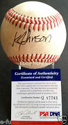 Kelly Johnson Signed Game Used 9th Hr Braves 01 Baseball Psa/dna Certified Auto