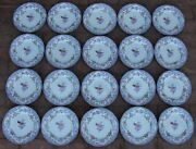20 Antique Minton And Boyle Bb New Stone Ironstone A1106 Dinner Plates C. 1841 Wow