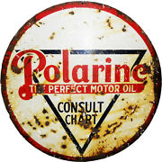 Extra Large Reproduction Looking Round Polarine Sign
