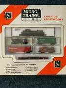 Micro Trains Tabletop Set N Scale Atlas Rs-3 Canadian Pacific Engine 8441 Cp
