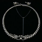 Miao Tribal Silver Torque With Dragon Terminals 19th C A.d. Ex Lissauer Y425