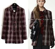 08pf 08a Red Black Plaid Button Up Jacket Fr34