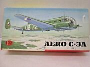 Vintage Kp Czech Aero C-3a Wwii Twin Engine Trainer Airplane 1/72 Model Kit 1976