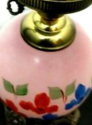Hurricane Lamp Gone With The Wind Glass Globe Parlor Dual Lighted Hand Painted