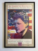 Bill Clinton 1993 Inaugural Poster, Peter Max Signed Framed