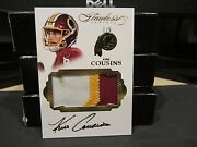 Panini Flawless On Card Autograph Worn Jersey Redskins Kirk Cousins 1/5 2016