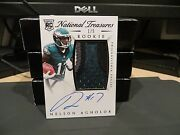 National Treasures Rookie Autograph Jersey Eagles Nelson Agholor 1/5 2015