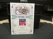 National Treasures Game Worn Jersey Nfl Shield Cowboys Terrell Owens 1/1 2008