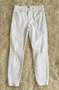 New J.crew Tall 9 Destroyed High-rise Toothpick Crop Jean In White G0866 Sz 31t