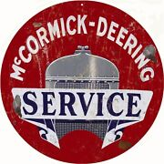 Mccormick Deering Service Station And Gas Sign Reproduction