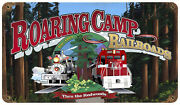 Roaring Camp Logo Sign Tin Vintage Style Railroad Signs