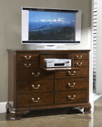 American Cherry Portsmouth Entertainment Dressing Chest In Cherry