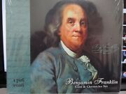 Us Mint 2006 Benjamin Franklin Silver Coin And Chronicles Set And 3 Ike's C216