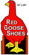 Nostalgic Red Goose Shoes Country Sign Laser Cut Out 13×24