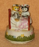 Schmid Vintage Kitty Cucumber Sick With Doctor And Nurse