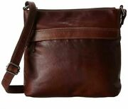 Jack Georges-voyager Hobo Crossbody-brown Hand Stained Buffalo Leather-nwt