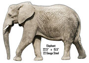 Elephant Animal Wall Art Laser Cut Out Metal Sign 15.5x22.5