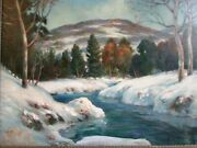Mt. Hope Pa Painting. Artist Harold E Snyder_pennsylvania Winter Early 1900and039s