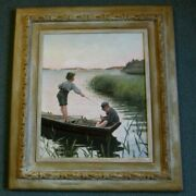Axel Sjoberg Oil Painting One Of The Best And Only One On Ebay By Swedish Artist