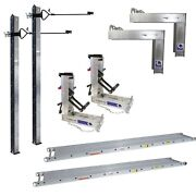 Aluminum Pump Jack System 2 Poles 2 Bench 2 Brace 2 Jacks And 14x24and039 Stage