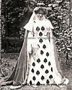 Old Vintage Funny Odd Weird Strange Queen Of Spades Costume Pretty Woman Photo