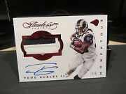 Panini Flawless On Card Autograph Jersey Rams Todd Gurley Ll 2/5 2016