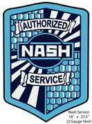 Nash Service Laser Cut Out Reproduction Metal Sign 18x25.5