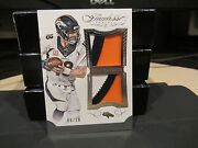 Panini Flawless Blue Dual Patches Jersey Broncos Peyton Manning 09/20 2015