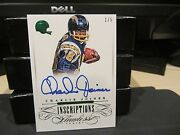 Flawless Emerald On Card Autograph Chargers Charlie Joiner 1/5 2015