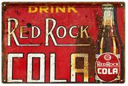 Reproduction Nostalgic Drink Red Rock Cola Advertisement Sign