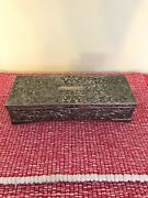 Godinger Antique Silver Plated Jewelry Box With Floral Design - Gray