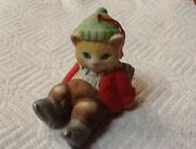 Vintage Kitty Cucumber Jb Buster Slipped On Ice Ornament