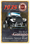 1935 Willys Street Rod Garage Sign Black Classic/hot Rod Car Signs