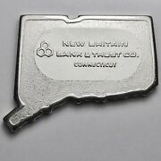 Pioneer Mint Connecticut New Britain Bank And Trust 2 Oz .999 Silver Bar Rare