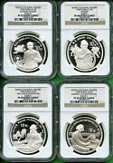 China 1990 Cultural Figures Ngc Pf 69 6968 67 Ultra Cameo 4 Coins