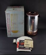 Vintage In Box Tricolator 36-cup Pink Electric Coffee Percolator With Filters