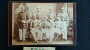 Cabinet Card Uniontown Pa 8 Military Officer Full Dress W Swords Antique Photo