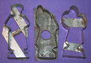Three Early Antique German Tin Christmas Cookie Cutters