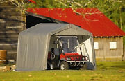 New Shelterlogic 6x12x8 Portable Garage Shed Canopy Car Atv Motorcycle Tractor