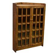Crafters And Weavers Mission Corner Bookcase - Walnut