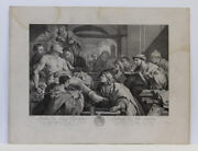 19th Century Steel Plate Engraving Of Luca Giordano's Painting