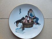 Gorham Four Seasons Vintage Collector Plates Set Of 4 Norman Rockwell 1975
